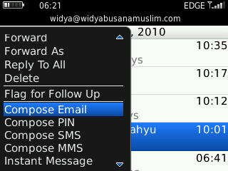 compose email blackberry