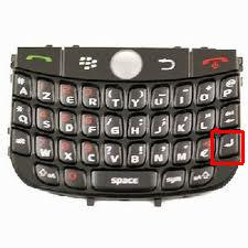 tombol enter qwerty blackberry