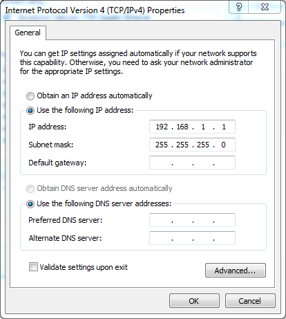 setting ip di win 7