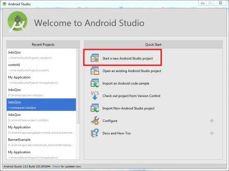 Membuat Project Android Baru di Android Studio