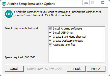 Cara Menginstal Software IDE Arduino-Arduino Setup_ Installation Options