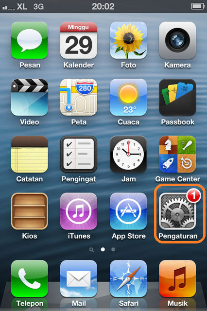 menu di iPhone