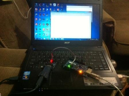 prototipe rangkaian usb to serial vs modul konverter uart ttl to rs232
