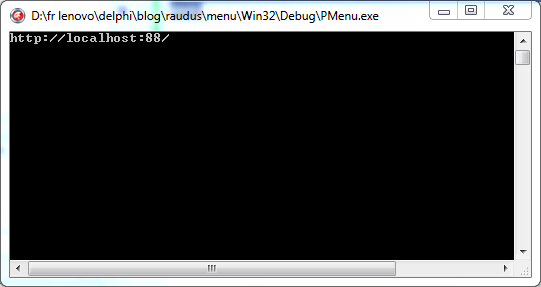 web server mongoose raudus delphi running