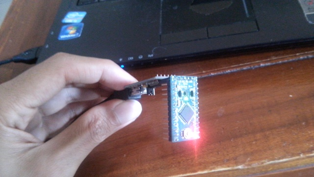 cara upload sketch arduino pro mini 2