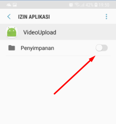 menu pengaturan - aplikasi - ijin aplikasi - enable izin